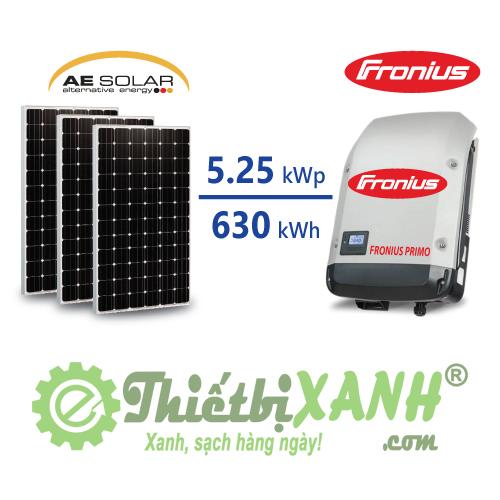 Hệ thống điện mặt trời hòa lưới 5,25 kW 01 pha